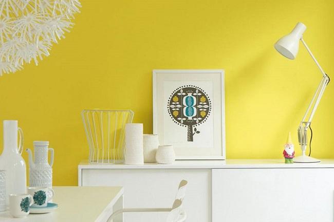 Những lưu ý khi sơn tường vàng cho nhà ở
