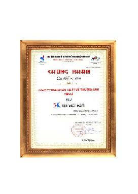 Tập đoàn Tân Á Đại Thành đạt chứng nhận 3K vì uy tín sản phẩm