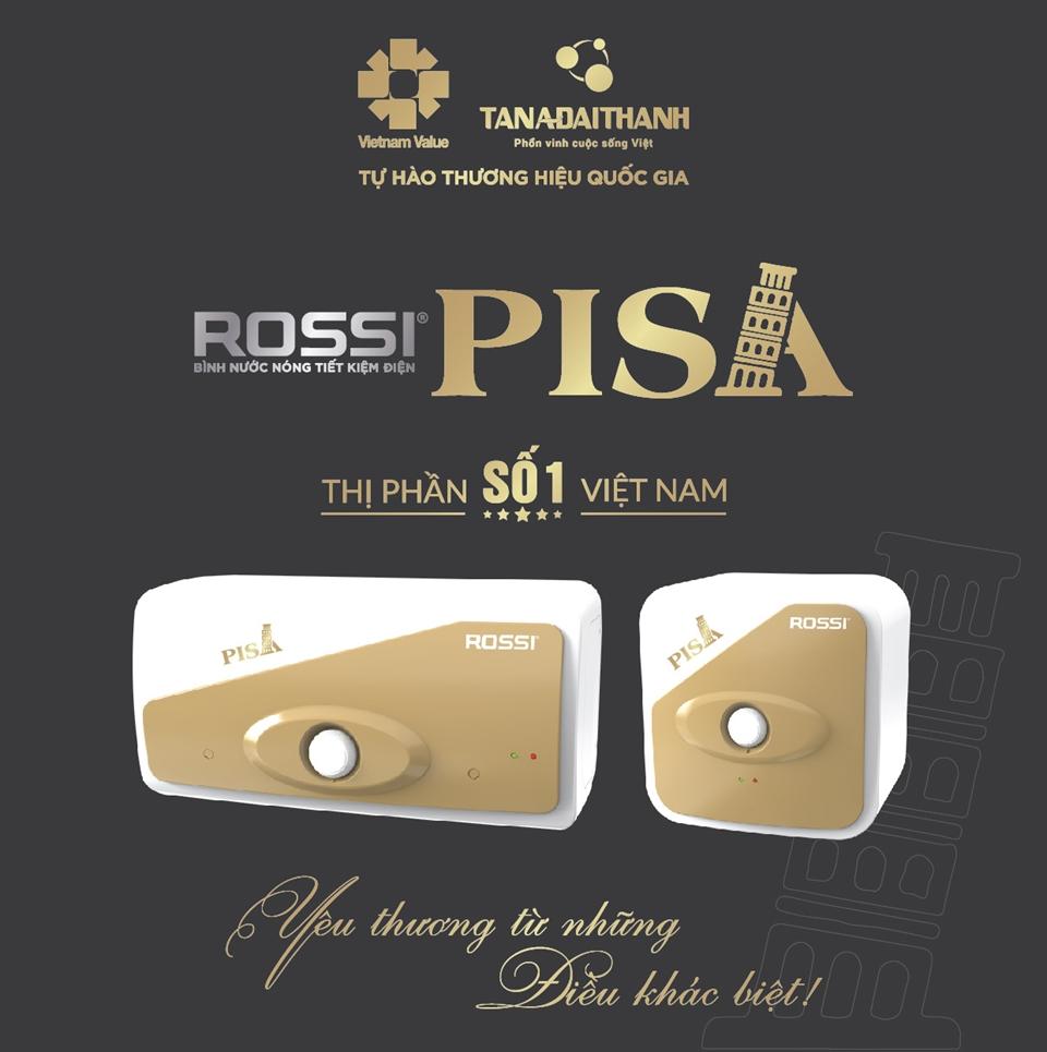 Bình nước nóng Rossi Pisa và máy lọc nước R.O của Tập đoàn Tân Á Đại Thành đã vinh dự được bình chọn vào Top 1 các sản phẩm được người tiêu dùng yêu thích
