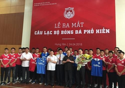 Tân Á Đại Thành ra mắt câu lạc bộ bóng đá Phố Hiến 1