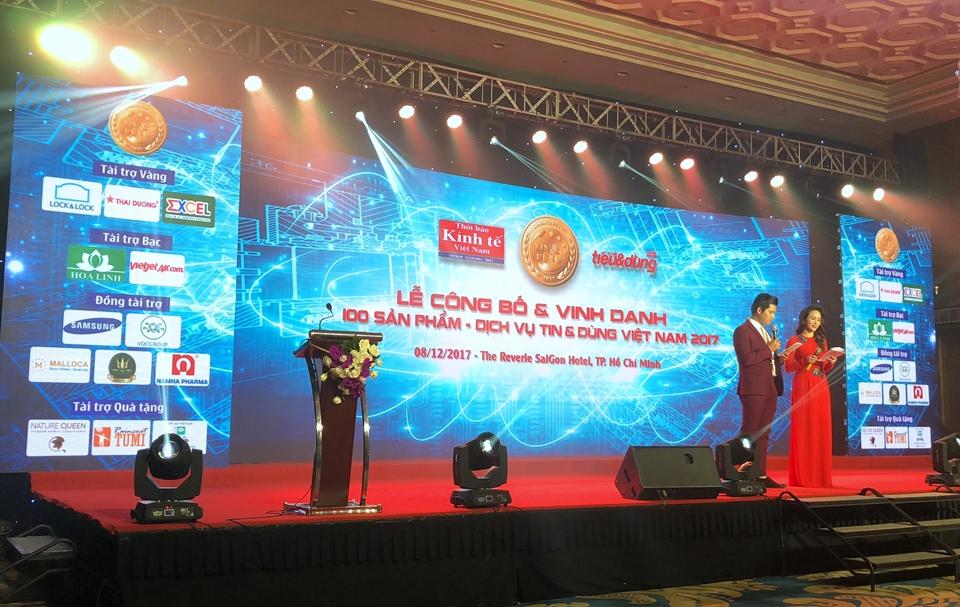 Lễ công bố và vinh danh 100 sản phẩm – dịch vụ Tin & Dùng Việt Nam 2017.