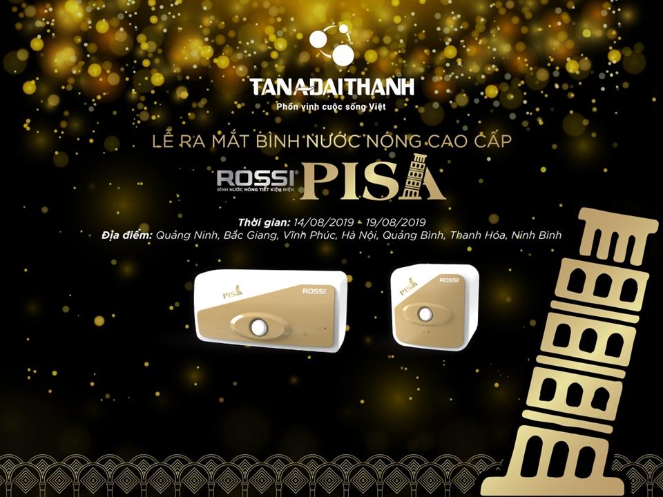 Ra mắt bình nước nóng phiên bản đặc biệt: Rossi Pisa