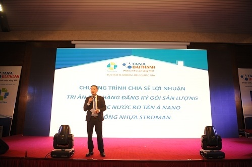 Hội thảo cũng là dịp để chia sẻ lợi nhuận, tri ân quý bạn hàng của Tập đoàn Tân Á Đại Thành.
