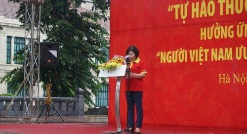 Bà Hồ Thị Kim Thoa – Thứ trưởng Bộ Công Thương phát biểu khai mạc buổi lễ