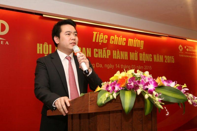 Ông Nguyễn Duy Chính – TGĐ Tập đoàn Tân Á Đại Thành, Tân Phó Chủ tịch Hiệp hội phát biểu nhận nhiệm vụ