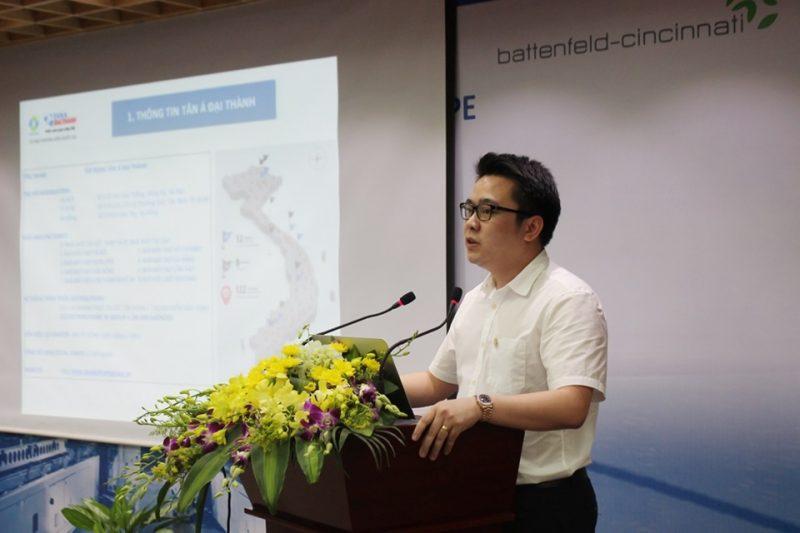Ông Nguyễn Duy Chính – TGĐ Tập đoàn Tân Á Đại Thành phát biểu trong lễ ký kết