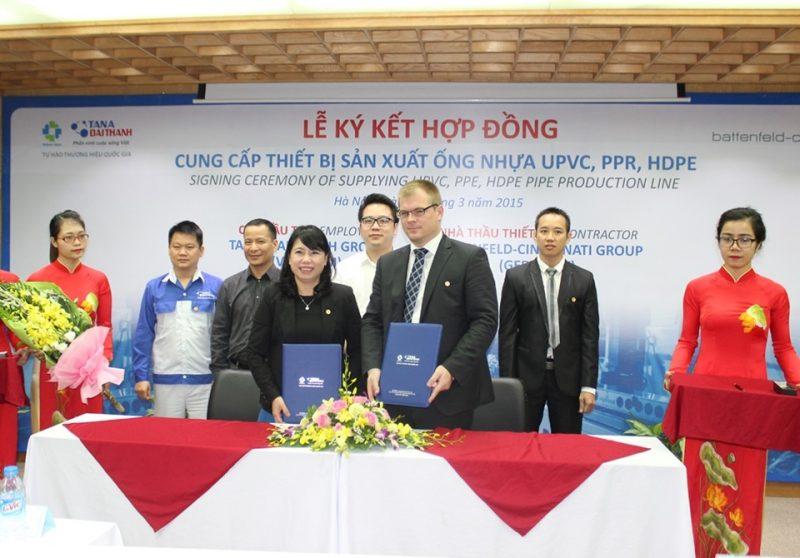 Tập đoàn Tân Á Đại Thành và Battenfeld-cincinnati Group chính thức ký kết hợp đồng thành công