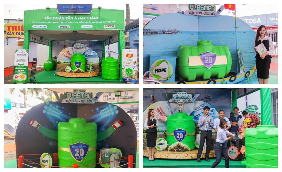 Tập đoàn Tân Á Đại Thành mang thử thách độ bền Siêu Bồn Nhựa Plasman đến Vietbuild Cần Thơ 2019