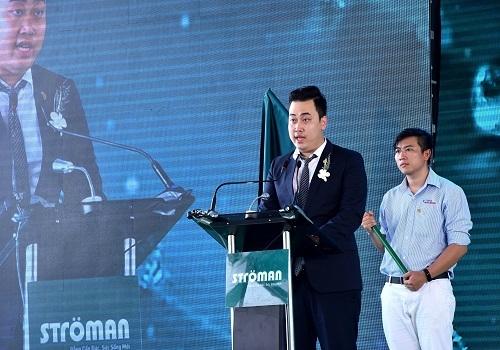 Ông Nguyễn Anh Tú, TGĐ Công ty Cổ phần Ống nhựa và Phụ kiện Ströman Miền Nam cam kết sẽ mang lại sản phẩm ống nhựa chất lượng tới người tiêu dùng.