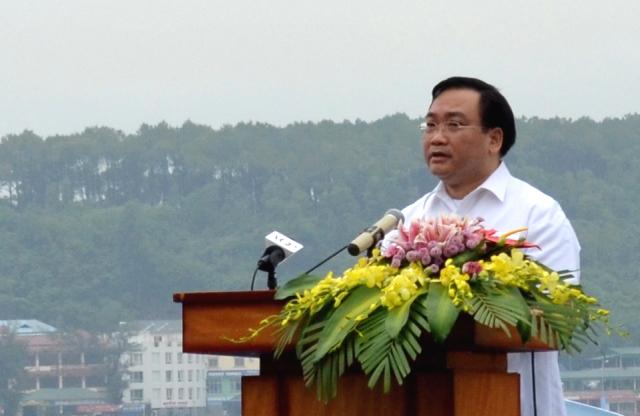Phó Thủ Tướng Hoàng Trung Hải phát biểu tại buổi lễ