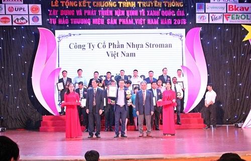 Ströman Việt Nam lọt Top 10 Thương hiệu vì môi trường xanh Quốc gia 1