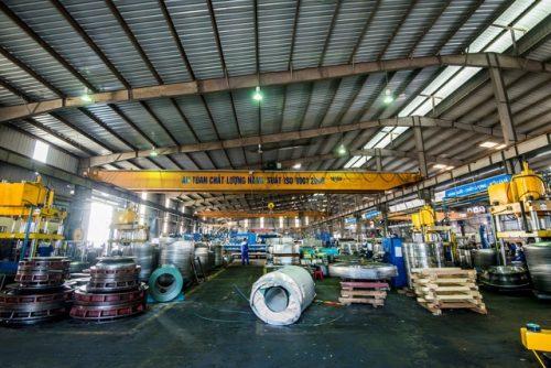 Phân xưởng sản xuất bồn chứa nước Inox - Nhà máy Tân Á Hưng Yên