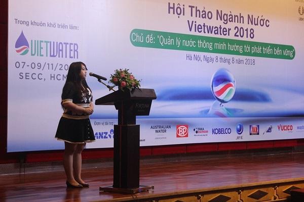 Tân Á Đại Thanh tham gia hội thảo ngành nước Vietwater 2018 2