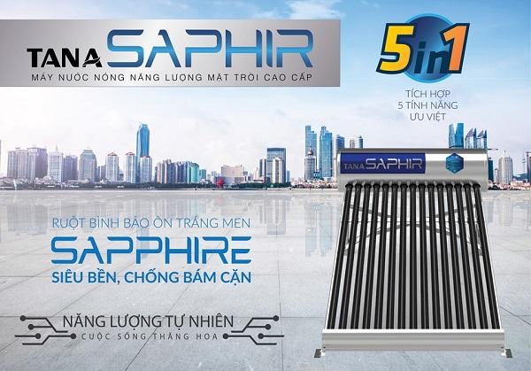 Máy nước nóng năng lượng mặt trời dòng Saphir ứng dụng công nghệ tráng men Sapphire nhân tạo siêu bền đột phá, tiên tiến và hiện đại nhất hiện nay 2