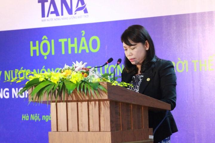 Bà Nguyễn Thị Mai Phương – Chủ tịch HĐQT Tập đoàn Tân Á Đại Thành phát biểu khai mạc hội thảo