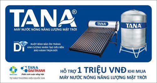 Tân Á Đại Thành HỖ TRỢ NGƯỜI TIÊU DÙNG 1.000.000 ĐỒNG khi mua Máy nước nóng năng lượng mặt trời
