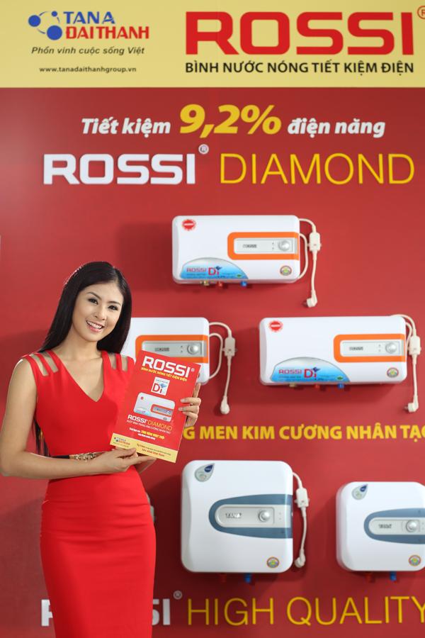 Hoa hậu Ngọc Hân – đại sứ thương hiệu Bình nước nóng Rossi.