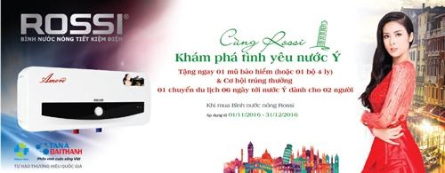 Bình nước nóng Rossi đạt Top 10 nhãn hiệu hàng đầu Việt Nam 2