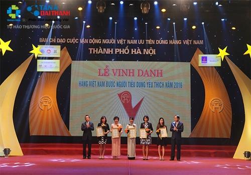 Bình nước nóng Rossi lọt Top 5 Hàng Việt Nam được người tiêu dùng yêu thích 2016 2