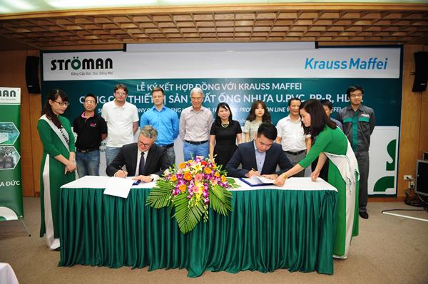 Lễ kí kết hợp tác chiến lược giữa Công ty CP nhựa Stroman và Tập đoàn Krauss Maffei 1