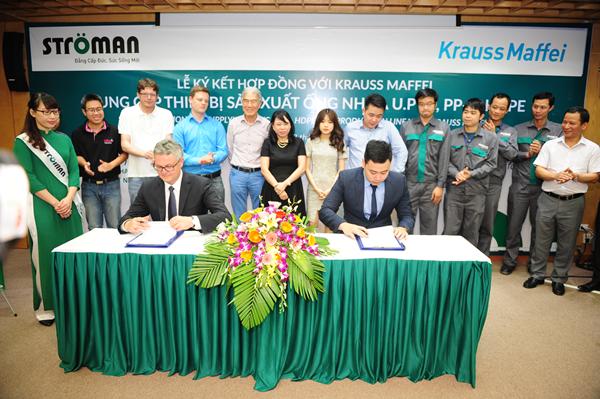 Lễ kí kết hợp tác chiến lược giữa Công ty CP nhựa Stroman và Tập đoàn Krauss Maffei 2