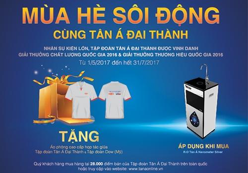 Nhận ngay quà tặng hấp dẫn từ máy lọc nước RO Tân Á Nanometer Silver 1