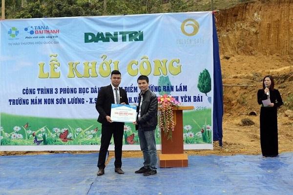 Tân Á Đại Thành tài trợ 100 triệu đồng xây dựng phòng học tại Yên Bái cùng báo Dân Trí 3