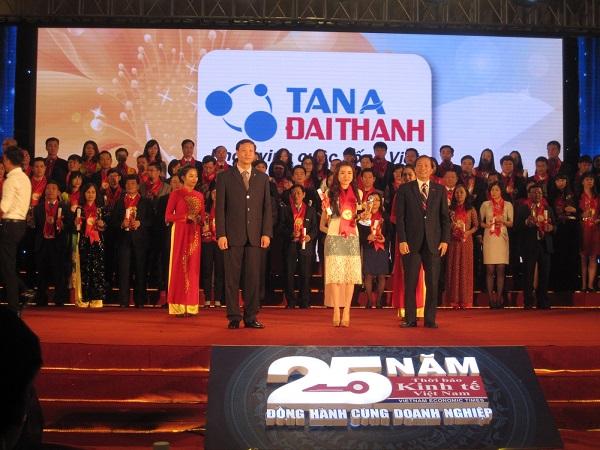 Tân Á Đại Thành - vinh dự nhận giải Top 10 Thương hiệu mạnh Việt Nam
