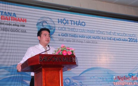 Tập đoàn Tân Á Đại Thành giới thiệu Máy lọc nước R.O thế hệ mới 2016 tại Nghệ An 1