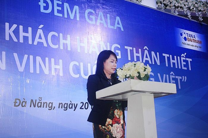 Bà Nguyễn Thị Mai Phương - Chủ tịch HĐQT Tập đoàn Tân Á Đại Thành phát biểu khai mạc chương trình