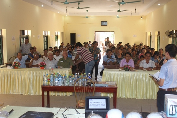 Tưng bừng hội thảo tư vấn sử dụng nước sạch tại tỉnh Hà Nam 3