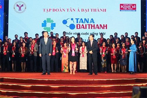 Tân Á Đại Thành nhận giải thưởng Thương hiệu mạnh Việt Nam lần thứ 7