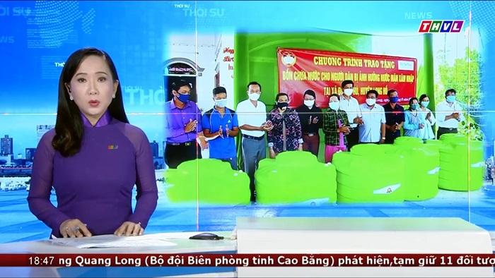 Tân Á Đại Thành tặng bồn chứa nước cho người dân vùng hạn mặn tỉnh Vĩnh Long