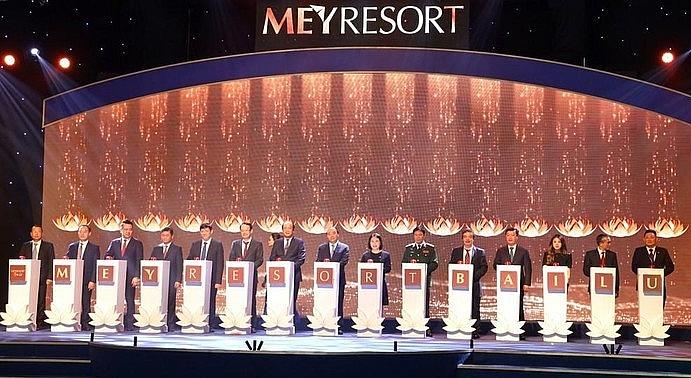 Thủ tướng Nguyễn Xuân Phúc dự và nhấn nút khởi động dự án MEYRESORT BÃI LỮ giai đoạn 2
