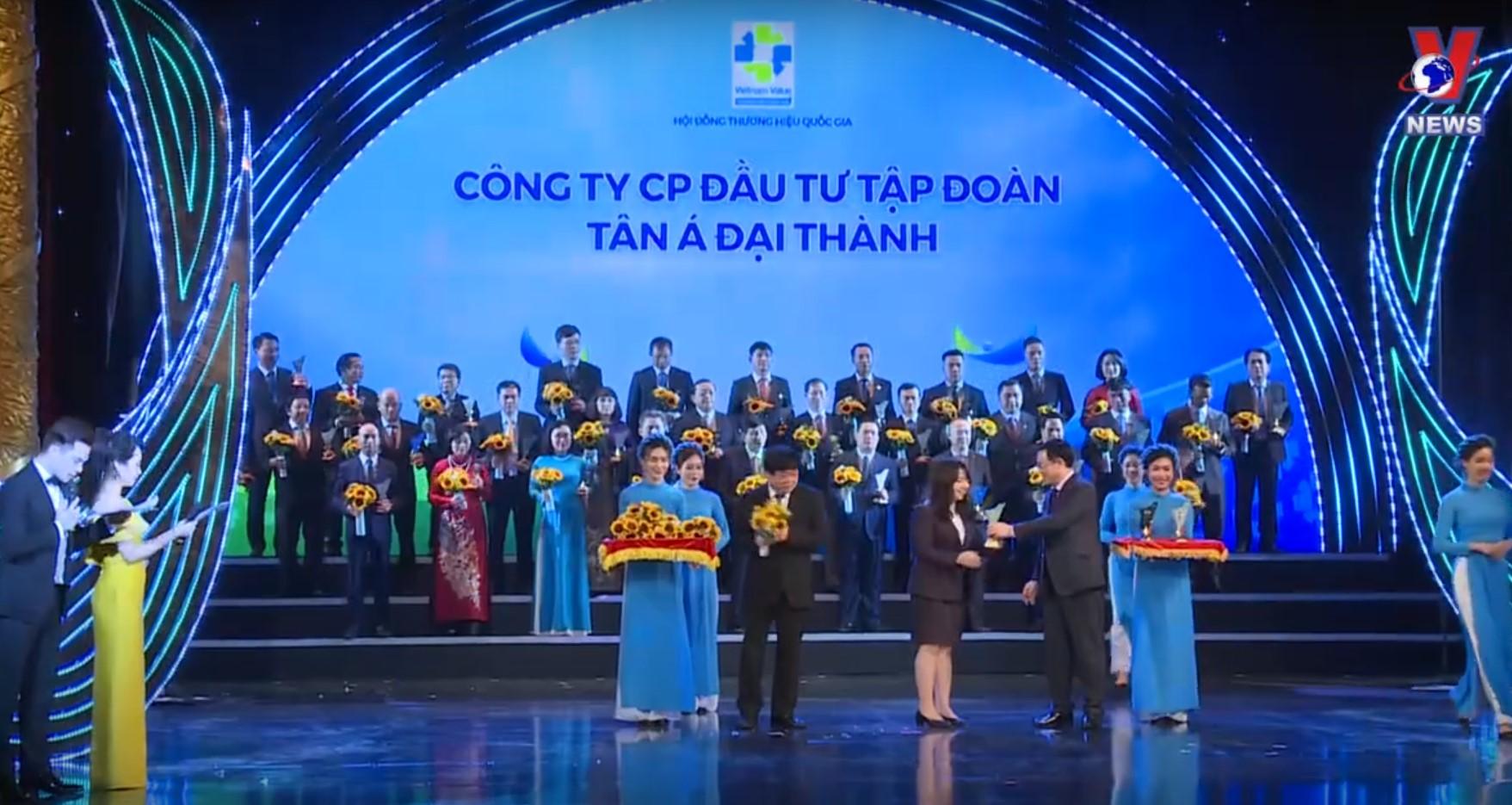 """Tân Á Đại Thành lần thứ 4 liên tiếp được công nhận là """"Thương hiệu Quốc gia"""""""