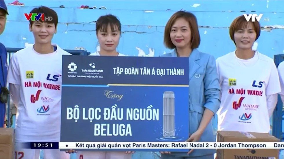 Tập đoàn Tân Á Đại Thành đồng hành cùng CLB bóng đá nữ Hà Nội I Watabe