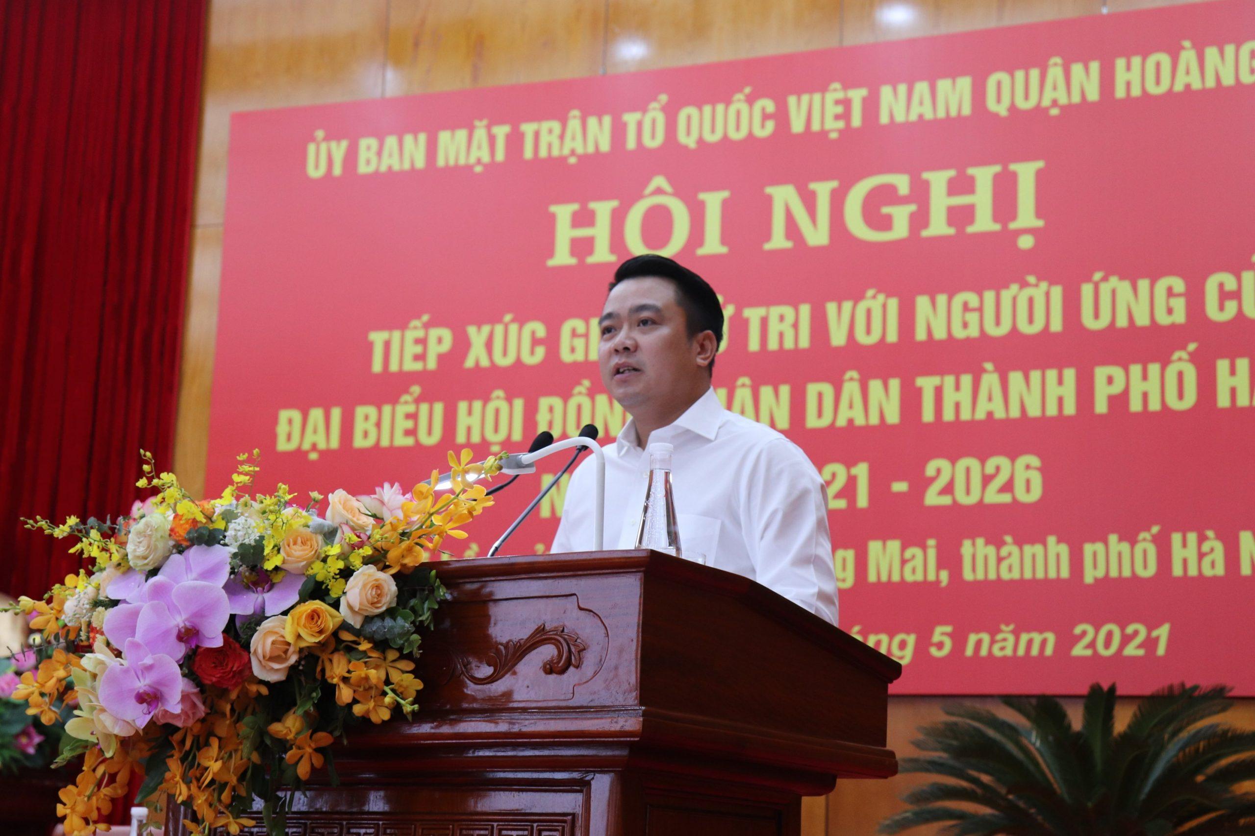 Cử tri quận Hoàng Mai kì vọng TGĐ Nguyễn Duy Chính sẽ trúng cử HĐND Thành phố
